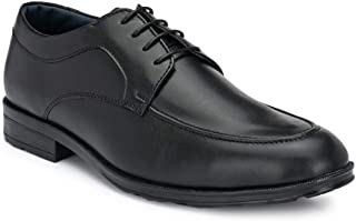 Park Avenue Solid Black Coloured Synthetic Men Formal Shoes