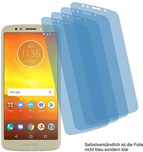 4ProTec I 4X Crystal Clear klar Schutzfolie für Motorola Moto E5 Bildschirmschutzfolie Displayschutzfolie Schutzhülle Bildschirmschutz Bildschirmfolie Folie
