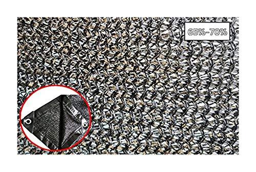 Tarnnetz 70% Sonnencreme Netto Sonnenschirm Sonnenschirm Outdoor Garten Blume Pflanze Gewächshaus Scheune Zwinger Dachabdeckung Huhn Haus Licht Und Langlebig Schwarz UV-beständiger Schutz