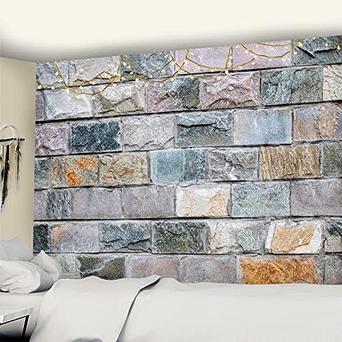 Tapiz con estampado de ladrillos de piedra 3D para colgar en la pared, tapiz de pared de gran tamaño, tela de Mandala, tapices de pared hippie baratos 200x150cm