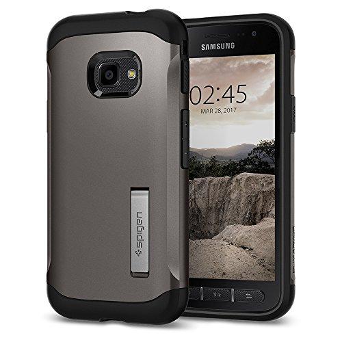 Spigen 585CS21819 Slim Armor für Samsung Galaxy Xcover 4 / 4s Hülle Integrierter Kickstand Hülle - Gunmetal