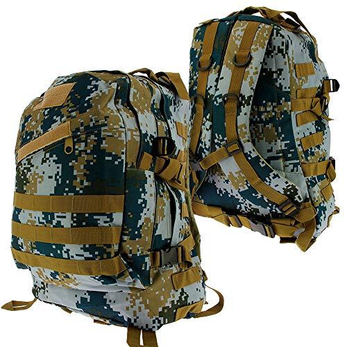 Golan 36L Military Tactical Army Backpack Rucksack Camping Hiking Trekking School Book Bag (Navy Camo)