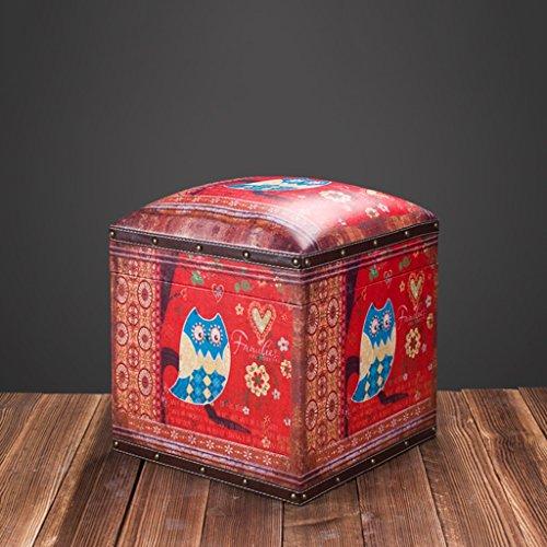 Boîte de Rangement en Bois d'habillement de Style Industriel rétro américain/Tabouret Court/boîte de Rangement de Jouet des Enfants, Incidence de Charge de 100kg (Couleur : #4)