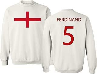 Soccer Legends #5 Rio Ferdinand Jersey Style Unisex Crewneck Sweater