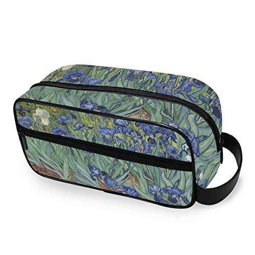 Trousse de Toilette de Voyage CPYang Van Gogh Iris Flower Portable Cosmétique Maquillage Trousse de Rasage pour Homme et Femme