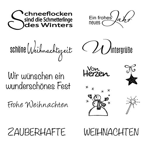 Rayher 59841000 Clear Stamp Weihnachten/Winter, 96,5x91x3,2mm