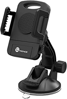 TaoTronics Car Phone Mount Holder, Windshield/Dashboard Universal Car Mobile Phone Cradle for iOS/Android Smartphone and More