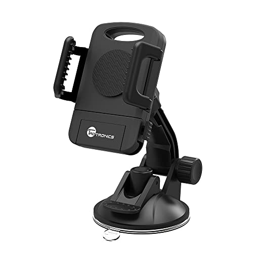TaoTronics Car Phone Mount Holder, Windshield / Dashboard Universal Car Mobile Phone cradle for iOS