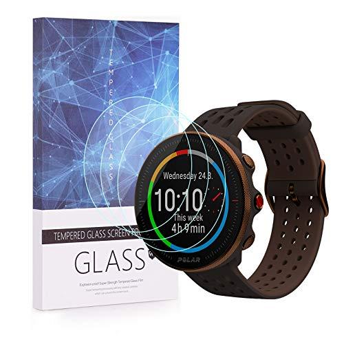 BECEMURU Polar Vantage M2 Watch Bildschirmschutzfolie, 9H Full Coverage Screen Tempered Glass Protector für Polar Vantage M2 Multisport GPS Watch [3 Pack]