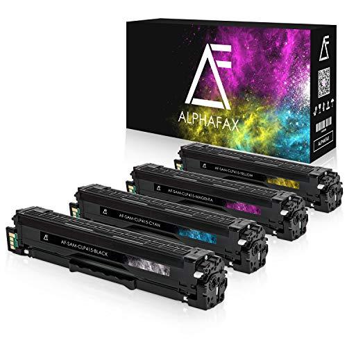4 Toner kompatibel mit Samsung CLP-415 für Samsung CLP-415nw, CLX4195FN WF N, Xpress SL-C1810W/SEE C1810w, C1860fw, clp410 Series, CLX-4100 Series - Schwarz 2.500 Seiten, Color je 1.800 Seiten