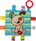 Taggies Crinkle Me Baby Toy, Brother Puppy , 6.5x6.5 Inch (Pack of 1)
