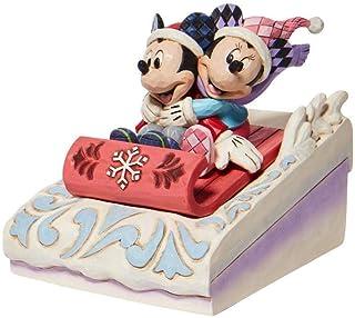 Enesco Disney Traditions Mickey and Minnie Sledding Figurine