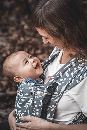 LIMAS Babytrage Plus Flora Cool Grey