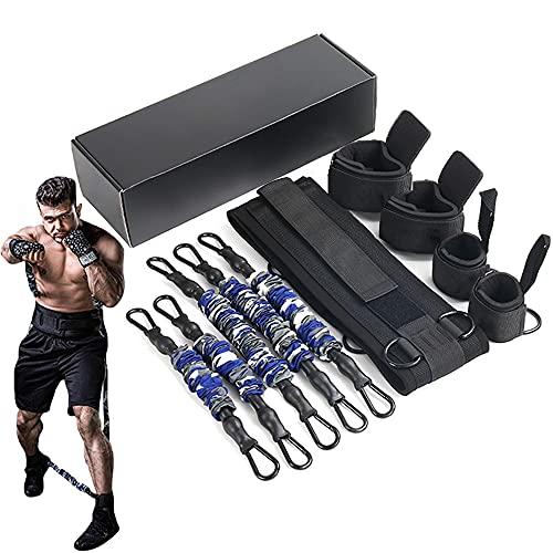 HORKEY Juego de bandas de resistencia para entrenamiento de boxeo, equipo de fitness de tensión; combate completo, entrenamiento de resistencia para hombres y mujeres, 175 LB
