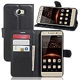 Ycloud Funda Libro para Huawei Y5 II, Suave PU Leather Cuero con Flip...