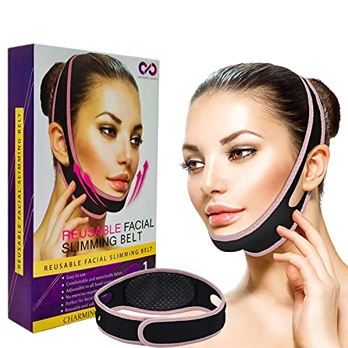 Facial Slimming Belt Reusable Double Chin Reducer Face Slimming Strap V-line Lifting Mask Face Lift Facial Mask One Size Fits All