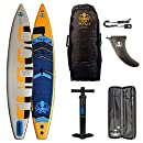 Runga PUREI AIR Inflatable Race SUP iSUP 12.6 INKL. Bravo PUMPE, Carbon PADDEL, Trolley-Bag, Coiled Leash & PADDELTASCHE