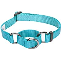 Blueberry Pet Collier Chien classique solide Polyester Nylon, Conçu pour durer. Laisse et harnais assortis vendus séparément