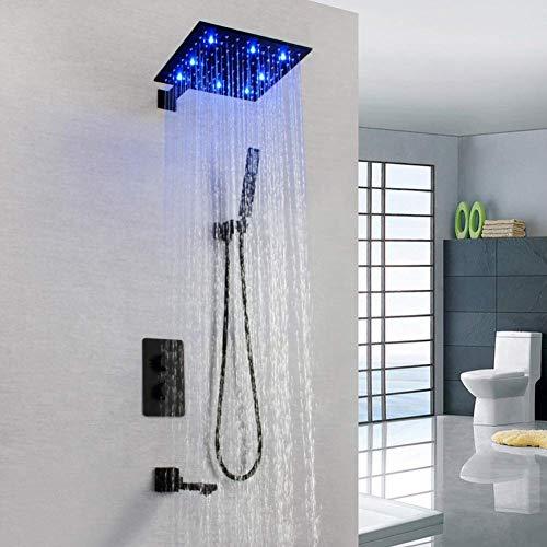 HYY-AA Termostato de ducha Sistema, grifo de la ducha de baño grifo del fregadero - Contemporáneo Pintura montado en la pared válvula de latón baño ducha Mezclador Conjunto del Hotel baño decoración d