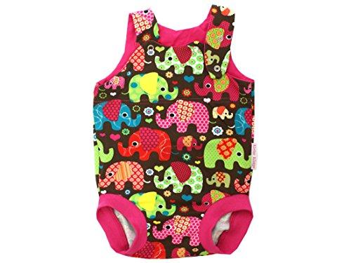 Kleine koningen baby rompers meisje zomer baby body · model olifantenfeest roze · Ökotex 100 gecertificeerd · maten 50-92