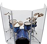 Drum Shield DS4 L 5 Section Drum Shield Acrylic Drum Panels with Hinges