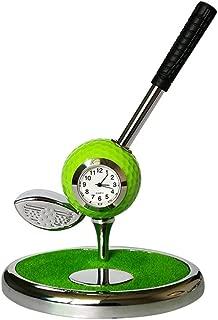 Sunny Lingt Golf Club Pen Holder, Creative Metal Ballpoint Pen Container Storage Box Golf Set Gift Multi-Function Desk Organizer for Office Desktop Decoration Ornament (Color : Green)