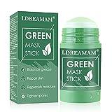 Mascarilla de té verde,mascarilla sólida de Control de Aceite,Mascarilla de limpieza profunda,Se utiliza para la limpieza profunda de los poros, el control de la grasa y la hidratación.