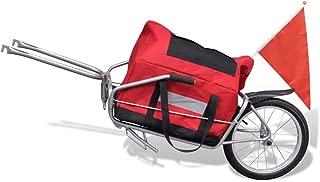 Tidyard 2-in-1 Bicycle Cargo Trailer One-Wheel with Storage Bag Total Size: 4' 8inch x 1' 5inch x 1' 4inch (L x W x H)