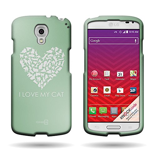 LG Volt LS740 Case [CoverON Snap Fit Series] Slim Shell Style with Enhanced Rubberized Matte Grip [Hard Thin Plastic Shield] Phone Cover Case for LG Volt LS740 - Cat Heart, Animal Pattern Design …