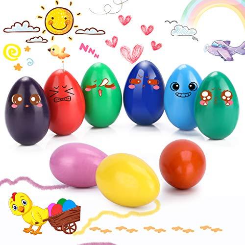 WOSTOO Crayones para Niños Pequeños, 9 Colores Crayones de Huevo para Niños, Agarre de Palma de la Mano, Crayones de Pintura Coloridos Juguetes, Seguro y No Tóxico Regalo