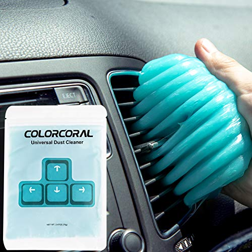 ColorCoral Dust Cleaner Keyboard Cleaning Gel Universal Cleaning Gadget Slime for Car Cleaning and Computer Dusting (1Pack)