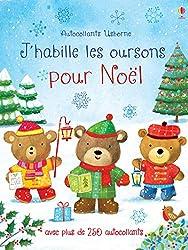 Livres d'activités de Noël : J'habille les oursons pour Noël