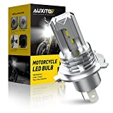 AUXITO H4 LED Headlight Bulb Motorcycle, 9003 HB2 LED Light 6000K White for High and Low Hi/Lo Beam 1860 CSP LED Chips, Pack of 1