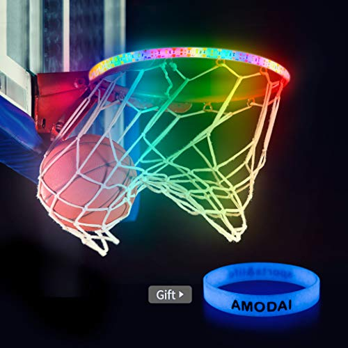 Buy Cheap AMODAI LED Basketball Hoop Lights Basketball Rim LED Light Swish LED Solar Light Glow in T...