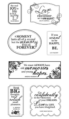 Fiskars 4x8 Inch Clear Stamp, All Around Quotes