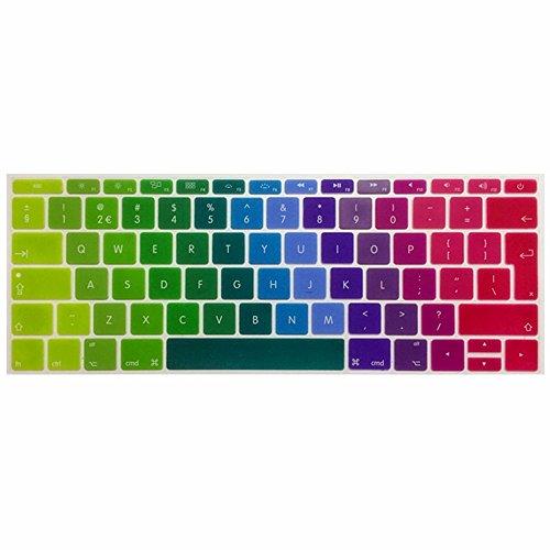 Se7enline 2016 2017 2018 Newest Macbook Keyboard Cover MacBook Pro 13 inch A1708 (No TouchBar Version) Silicone Skin Macbook Pro Keyboard Cover 13 inch (UK Layout), Rainbow