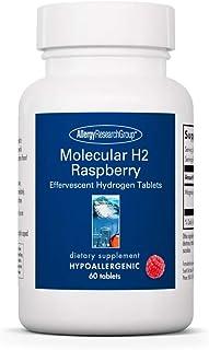 Allergy Research Group - Molecular H2 Raspberry - Antioxidant, Hydrogen - 60 Effervescent Tablets