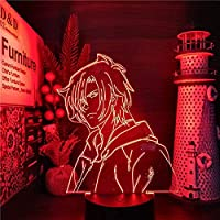 GMYXSW 3D夜ライトLED幻想ランプバナナフィッシュグレー3DアニメーションライトLEDナイトライト7色変更Lampara LED誕生日ギフト-接する