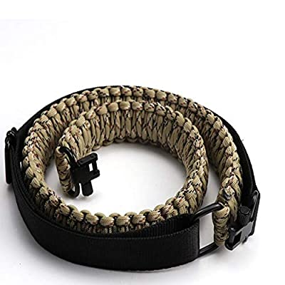 N&G Outdoor Tactical Paracord Gun Sling, Equipped with Adjustable QD Retaining Ring, for Hunting and Shooting, (550 Rated Nylon, Desert Camo)