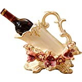 Botellero Decoración del Gabinete del Vino Sala De Estar UVA Estante del Vino Cerámica Decoración del Hogar (Color : Blanco, Size : 28 * 14.5 * 25cm)