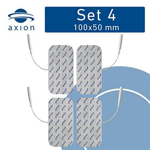 4 Electrodos parches grandes - 10x5 cm - Entrenamiento EMS y terapia de dolor TENS - axion