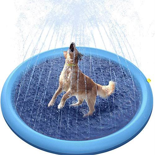 ZXY Splash Play Mat, Sprinkle and Splash Water Play Mat Play Mat Party Sprinkler Splash Pad Summer Spray Toys para niños y jardín al Aire Libre Actividades Familiares,150 * 150cm