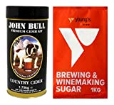 Young's 40 Pint John Bull Premium Country Cider Kit + 1kg Brewing Sugar