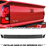GT-Speed - SS Style PU Rear Tailgate Tail Wing Spoiler Lip - Compatible With 1999-2006 Chevrolet Silverado Intimidator/GMC Sierra Pick Up Truck (Not Compatible With Stepside Model)