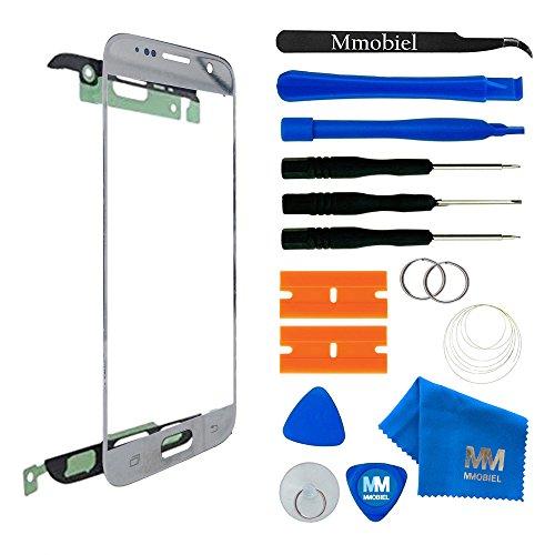 MMOBIEL Front Glas Reparatur Set kompatibel mit Samsung Galaxy S7 G930 Series (Silber) Display Touchscreen mit Werkzeug