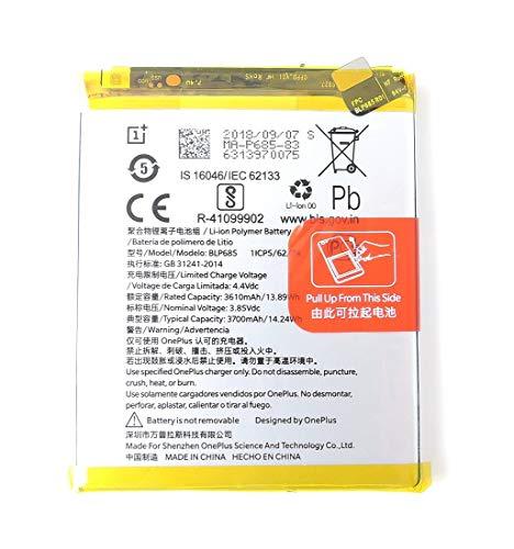 TPC - Batteria Originale OnePlus BLP685 per One Plus 6T - 3610mAh - Bulk + Regalo