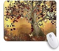 マウスパッド 個性的 おしゃれ 柔軟 かわいい ゴム製裏面 ゲーミングマウスパッド PC ノートパソコン オフィス用 デスクマット 滑り止め 耐久性が良い おもしろいパターン (ゴールデンオーシャンフィッシュエレガントリボンアニマルテーマ)