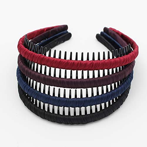 JOBAND Fashion hair bands for women short hair headbands Non-slip hairband Resin Hair Accessories hair hoop Comfy teeth comb (4 color)