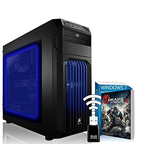 AGANDO Overclocking Gaming PC | Intel Core i5 4690K @4x 4.2GHz | Nvidia GeForce GTX1070 8GB JetStream | 16GB OC RAM | 1000GB HDD | DVD-RW | MSI Z97 Gaming 3 Mainboard | USB3.0 | Killer LAN | 7.1 Audio BOOST | WLAN | Win7Pro | 36 Monate Garantie | Computer für Multimedia, Gaming, Büro/Office + Gratis Spiel