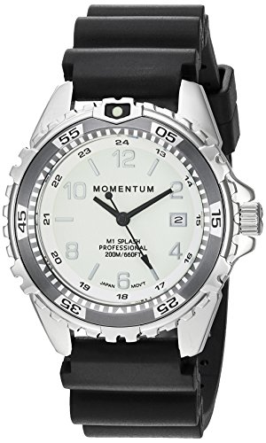 Women's Quartz Watch | M1 Splash by Momentum| Stainless Steel Watches for Women | Dive Watch with Japanese Movement & Analog Display | Water Resistant ladies watch with Date –Lume / Grey Rubber